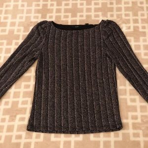 Sparkly silver black blouse